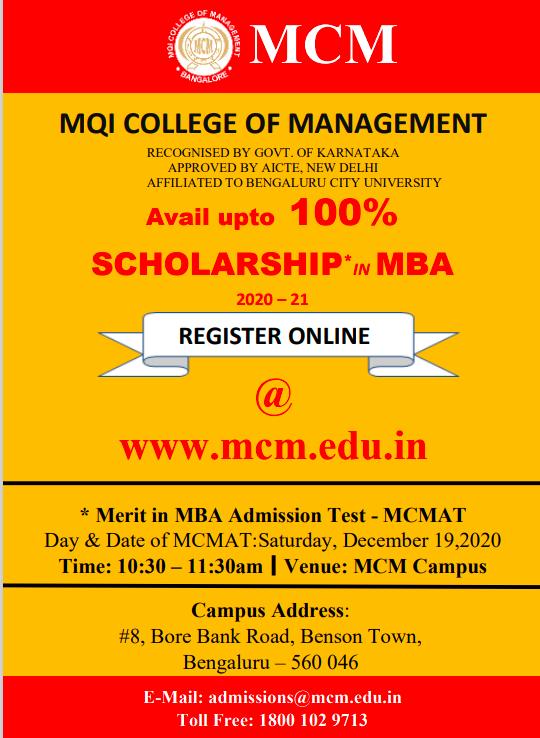 MBA Admission Test 2020-21